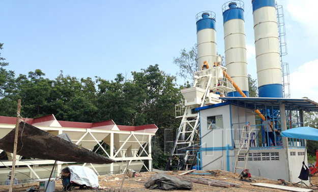 Стационарный бетонный завод 50 м3/ч цена