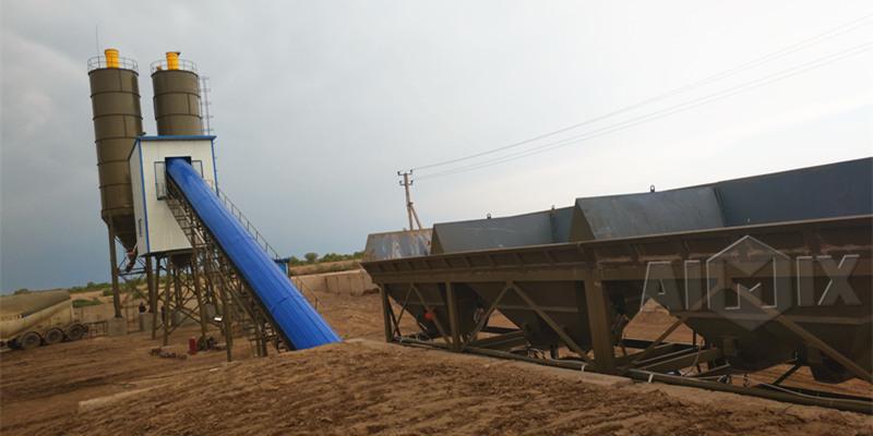 Aimix бетонный завод в Узбекистан отправлен