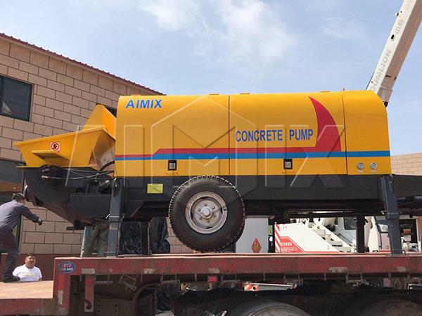 Таджикистан: Электрический бетононасос прицеп 60 м3/ч
