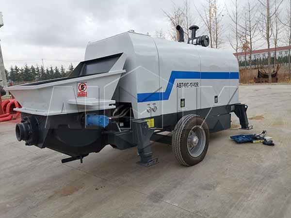 Боливия: дизельный бетононасос прицепной